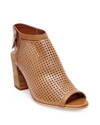 Steven by Steve Madden - Purple Suzy Perforated Leather Booties - Lyst