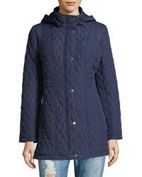 Weatherproof - Blue Plus Quilted Hooded Jacket - Lyst
