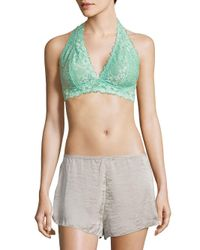 Free People - Green Floral Lace Bralette - Lyst