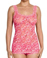 Hanky Panky - Pink Cross-dyed Signature Lace Camisole - Lyst