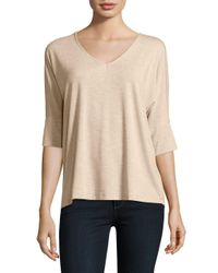 B Collection By Bobeau | Natural V-neck Pullover Top | Lyst