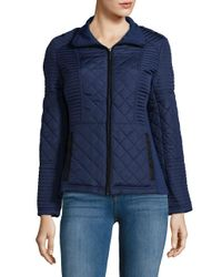 Weatherproof - Blue Quilted Puffer Jacket - Lyst