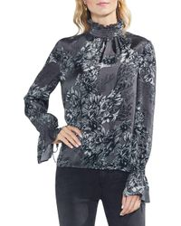 Vince Camuto - Multicolor Etched Woodland Floral Blouse - Lyst
