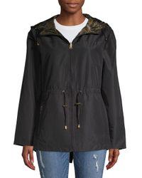 Jones New York - Black Reversible Packable Jacket - Lyst