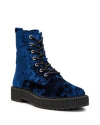 Katy Perry - Blue Gia Velvet Booties - Lyst