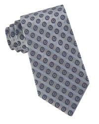 Calvin Klein - Blue Modern Medallion Silk Tie for Men - Lyst