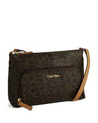 CALVIN KLEIN 205W39NYC - Brown Logo Crossbody Bag - Lyst