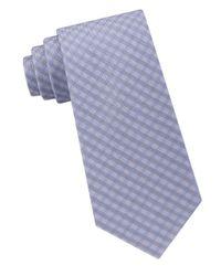 Calvin Klein | Blue Silk Woven Tie for Men | Lyst