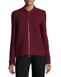 Lafayette 148 New York | Red Alison Waffle Weave Jacket | Lyst