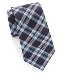 Cole Haan | Blue Classic Plaid Tie for Men | Lyst