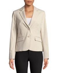 Jones New York - Natural Tailored Blazer - Lyst