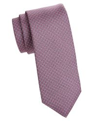 Brooks Brothers - Purple Printed Silk Tie for Men - Lyst