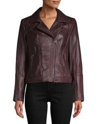MICHAEL Michael Kors - Brown Asymmetric Moto Jacket - Lyst