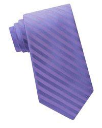 Calvin Klein | Purple Woven Striped Tie for Men | Lyst