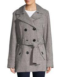 Jones New York - Gray Classic Hooded Jacket - Lyst