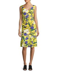 Tracy Reese | Yellow Animal-print Sleeveless Dress | Lyst