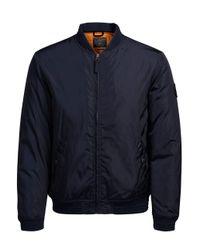 Jack & Jones - Blue Jorlucky Bomber Jacket for Men - Lyst