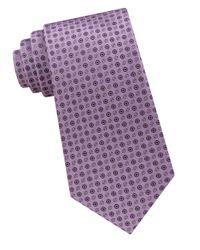 CALVIN KLEIN 205W39NYC - Purple Embroidered Silk Tie for Men - Lyst