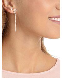 Swarovski - Metallic Lifelong Bow Crystal Drop Earrings - Lyst