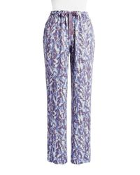 CALVIN KLEIN 205W39NYC - Blue Patterned Pajama Pants - Lyst
