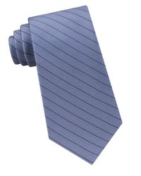 Calvin Klein | Blue Seed-stripe Silk Tie for Men | Lyst