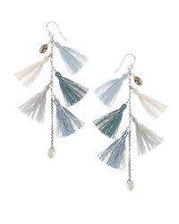 Chan Luu - Blue Moonstone And Sterling Silver Earrings - Lyst
