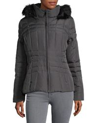 CALVIN KLEIN 205W39NYC - Multicolor Faux Fur-trimmed Double Zip Hooded Puffer Coat - Lyst