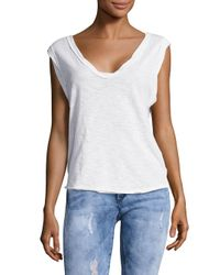 Free People - White Classic Cap-sleeve Top - Lyst
