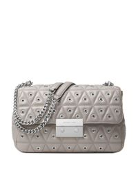 MICHAEL Michael Kors | Gray Sloan Quilted Leather Shoulder Bag | Lyst