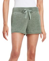 Roudelain - Green Soft Touch Textured Drawstring Shorts - Lyst