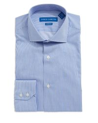 Vince Camuto | Blue Modern Fit Striped Dress Shirt for Men | Lyst
