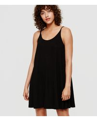 Lou & Grey - Black Bare Swing Dress - Lyst