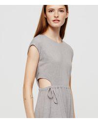 Lou & Grey - Gray Jerseyknit Cutout Dress - Lyst