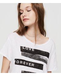 Lou & Grey - White Sundry Love Me Forever Tee - Lyst