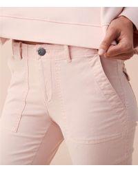 Lou & Grey - Pink Garment Dye Brushed Sateen Skinny Pants - Lyst