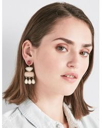 Lucky Brand - Metallic Stone Statement Earring - Lyst