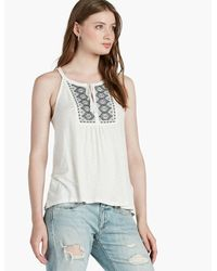 Lucky Brand - Multicolor Embroidered Bib Halter - Lyst