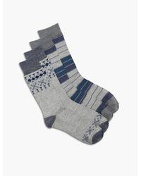 Lucky Brand | Blue 2 Pack Aztec Colorblock Socks for Men | Lyst