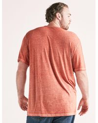Lucky Brand - Red Venice Burnout Notch Tee for Men - Lyst