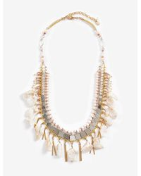 Lucky Brand - Blue Stone Layer Necklace - Lyst