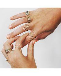 Lulu Frost - Metallic Code Number Diamond Ring 18k Gold - Lyst