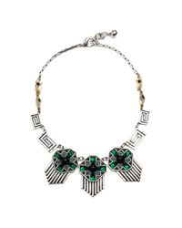 Lulu Frost - Green Vaulted Triple Necklace - Lyst