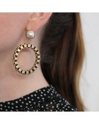 Lulu Frost - Metallic Eleanor Chain Hoop Post Earring - Lyst