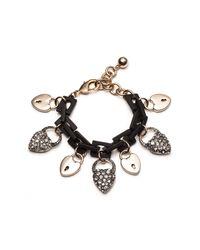 Lulu Frost - Metallic Blackheart Charm Bracelet - Lyst