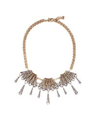 Lulu Frost - Metallic Brigitte Fringed Statement Necklace - Lyst