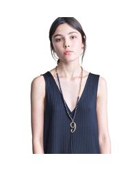 Lulu Frost | Plaza Number Necklace - Black Pearl Chain | Lyst