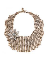 Lulu Frost | Metallic Single Mesh Necklace - Gold | Lyst
