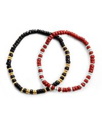 Lulu Frost | Red George Frost G.frost Morse Bracelet Set - Always + Forever | Lyst