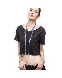 Lulu Frost | Blue G. Frost Divide And Conquer Morse Necklace | Lyst