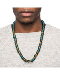 Lulu Frost - Multicolor F-off Morse Glass Bead Necklace for Men - Lyst